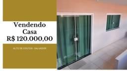 Casa -Alto de Coutos  -03 quartos, 02 banheiros, Varanda, 01 área de serviço