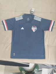 Camisa oficial São Paulo uniforme 3 preta GG