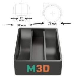 Trava Rodinhas 75mm 5822 Marques Maker 3d (2 Unidades)