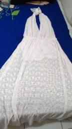 Vestido branco G usado apenas uma vez final de ano R$ 190.00