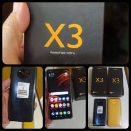X.I.A.O.M.I. Poco X3, 128 gigas, 6 GB de ram whatts *