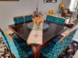 Sala de jantar semi nova 8 lugares alto padrão