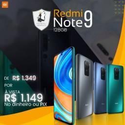 Celular Xiaomi Redmi Note 9 - 128GB Novo lacrado c/ garantia