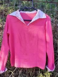 Suéter com camisa embutida