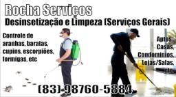 Rocha Serviços - Desinsetização e Limpeza (Serviços Gerais)
