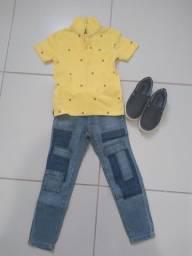 Conjunto Tommy Original veste até 4 anos.