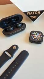 Combo Smartwatch T500 + Fone sem fio B5