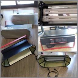 Kit de Refletores Line Pro com luzes para estúdio