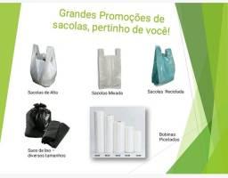 Sacolas recicladas - Mixadas - alta - saco de lixo e bobinas
