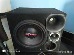 Caixa de SOm Trio, Sub Alto falante 12p Nitro 700 Wats RMS, Twitter, Corneta