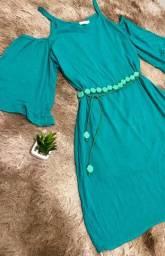 Vestido Soltinho C/ Alças e Manga Ciganinha