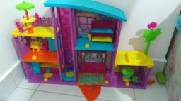Kit Polly Pocket - Mega Casa de Surpresa Mattel