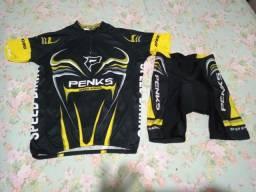 Título do anúncio: Conjunto short camisa PENKS ciclismo