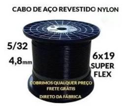 Título do anúncio: 100 Metros Cabo Aço 5/32 Nylon P/ Academia 6x19