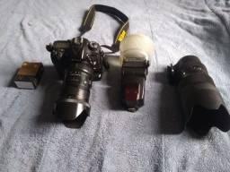 Título do anúncio: D7100 + lentes + flash