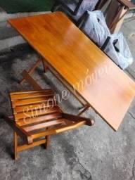 Título do anúncio: Mesa dobrável 1,20X70 e 4 cadeiras