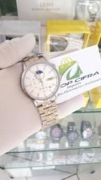 Relógio Original Todo funcional de Aço inoxidável > Em até 12x nos cartões