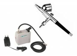 Mini Compressor para Aerógrafo Wimpel Comp-3 + Aerógrafo Wimpel 1001