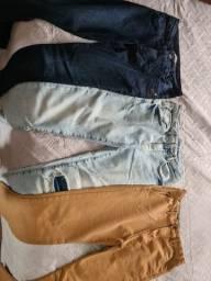 Torro 3 calças infantis tamanho 10 de marca Zara e Freesurf