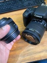 Título do anúncio: Câmera Canon T6S + Lente Canon 50mm 1.8