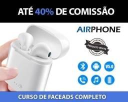 Fone de ouvido sem fio Airphone
