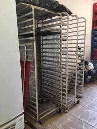 Carrinho armario para pão Frances usado