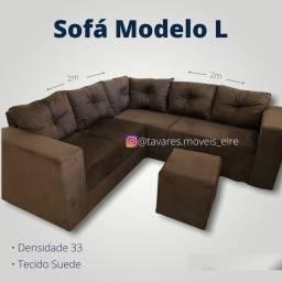 Título do anúncio: Sofá sofá de canto com puf @@@