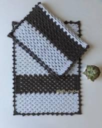 Título do anúncio: Conjunto de Crochê, tapete Dual Color