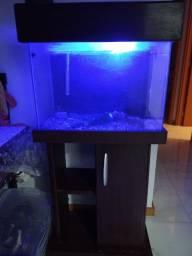 Título do anúncio:  Móvel para aquário 60 cm e todos os acessórios.