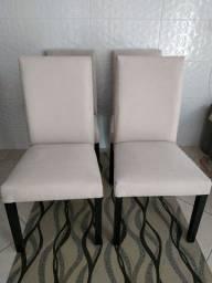Cadeiras de madeira maciça 04 pç top firmes e impecável