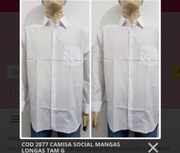 Atacado 06 camisas sociais G e GG por 280,00