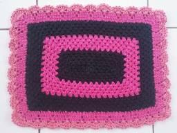 Tapete Crochê Cordão Artesanal