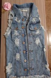 Jaqueta jeans destroind