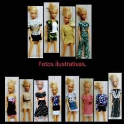 Roupas para Barbie Padrão e similares.
