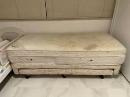 Título do anúncio: Cama de solteiro Ortobom + cama auxiliar