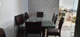 Mesa de 8 cadeiras semi nova