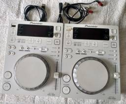 Par de CDJs 350 Branco Edition Limited