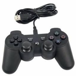 Controle Vibra Shock 3 Para Ps3 Computador Pc Com Cabo Usb