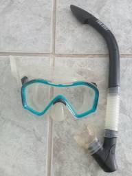 Máscara de mergulho Fundive Silicone e Vidro temperado
