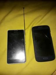 Vendo dois celulares para arrumar ou retirada de peças