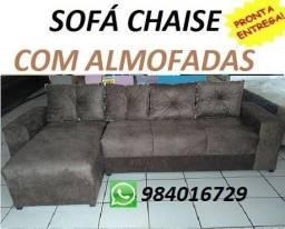 (Receba No Mesmo Dia)Lindo Sofa Chaise(Novo) Com Almofadas Apenas 799,00