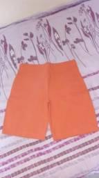 Short fit laranja