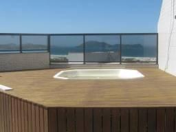 Espetacular cobertura c/linda vista mar, terraço com área gourmet e piscina de hidro