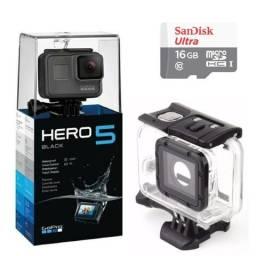 Go pro hero 5 + cartão de memória 16gb