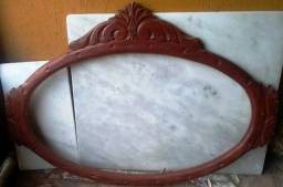 Moldura madeira maciça sem espelho 1,29 cm X 0,57 cm