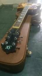 Guitarra sx lespaul + hardcase de luxo, aceito cartão