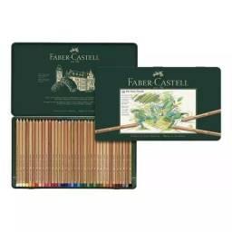 Lápis Mina Pastel Seco Pitt Estojo 36 Cores Faber Castell