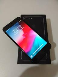 Iphone 7 Plus 256gb preto com caixa, manual, fone e carregador