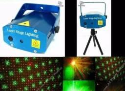 Projetor holográfico canhão laser com efeito strobo festa