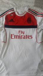 Camiseta de futebol Milan Fly Emirates seminova